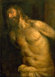 Flagellation of Christ, undated by Titian | Painting Reproduction