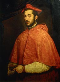 Portrait of Bishop Alessandro Farnese, c.1545/46 by Titian | Painting Reproduction