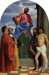Saint Mark with other Saints, undated by Titian | Painting Reproduction