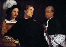 The Interrupted Concert, c.1510 by Titian | Painting Reproduction