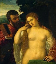 Allegory (Alfonso d'Este and Laura Dianti), undated von Titian | Gemälde-Reproduktion