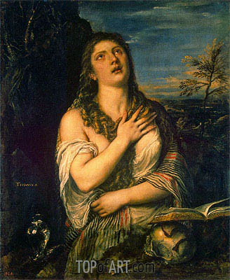 The Repentant Magdalene, c.1560 | Titian| Painting Reproduction