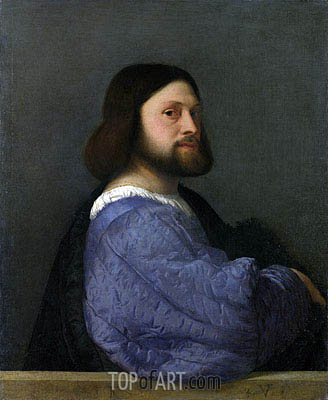 A Man with a Quilted Sleeve (Ariosto), c.1510/12 | Titian| Painting Reproduction