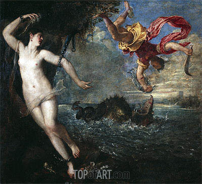 Perseus and Andromeda, c.1554/56 | Titian | Painting Reproduction