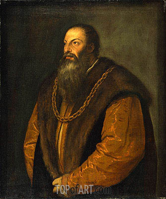 Portrait of Pietro Aretino, c.1548/51 | Titian| Painting Reproduction