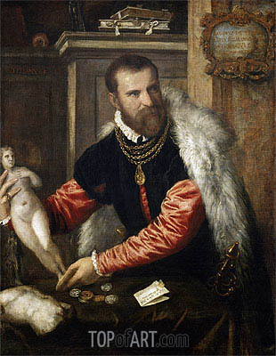 Portrait of Jacopo Strada, c.1567/68 | Titian| Painting Reproduction