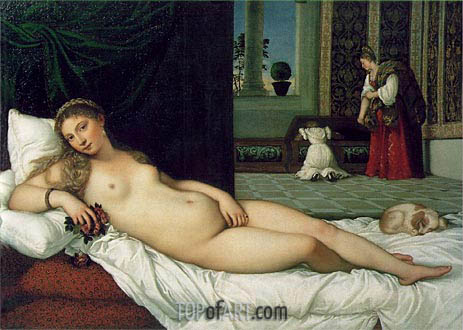 The Venus of Urbino, 1538 | Titian| Painting Reproduction