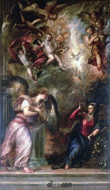 Annunciation, 1559/62 | Titian | Painting Reproduction
