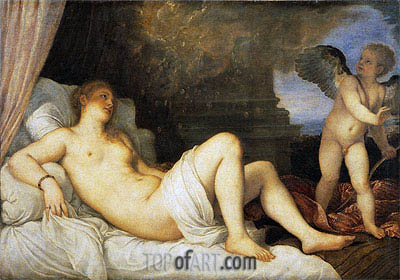 Danae,  | Titian| Painting Reproduction