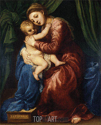 Madonna and Child, c.1540 | Titian | Gemälde Reproduktion