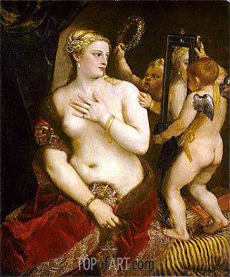 Venus with a Mirror, 1555 | Titian | Painting Reproduction