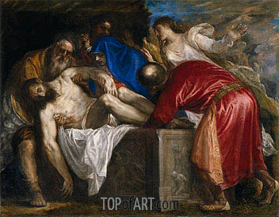 The Burial of Christ, 1559 | Titian| Gemälde Reproduktion
