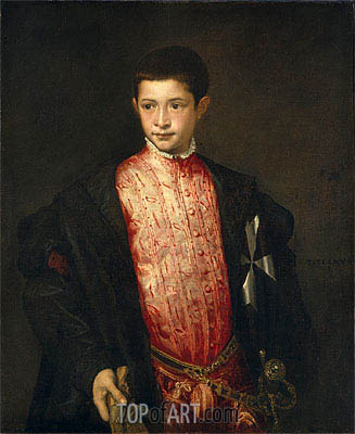 Ranuccio Farnese, 1542 | Titian | Painting Reproduction