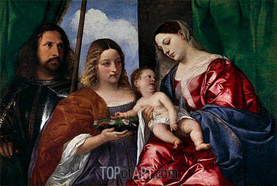 The Virgin and Child with Saints Dorothy and George, c.1515 | Titian | Painting Reproduction
