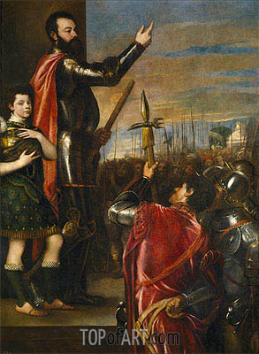 The Marquis of Vasto Addressing his Troops, c.1540/41  | Titian | Painting Reproduction