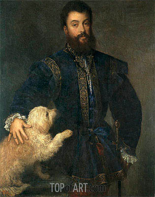 Federico Gonzaga, I Duke of Mantua, 1529 | Titian | Painting Reproduction