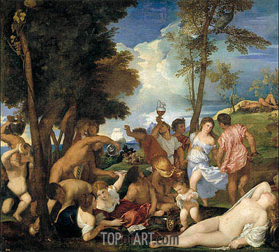 Titian   Bacchanal on Andros, c.1523/26