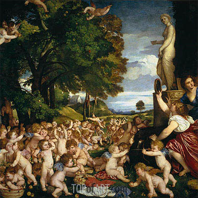 The Offering to Venus, c.1518/19 | Titian | Painting Reproduction