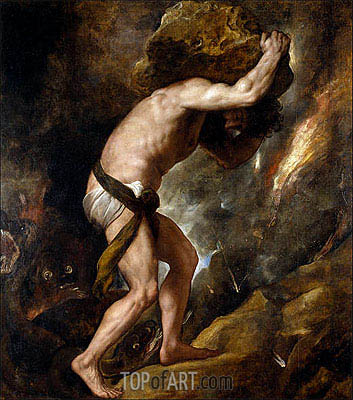 Sisyphus, c.1548/49 | Titian | Painting Reproduction