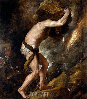 Titian | Sisyphus, c.1548/49
