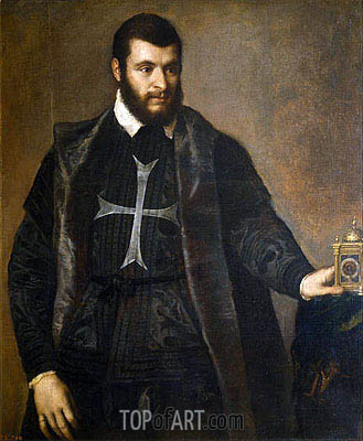 Gentleman with a Watch, c.1550 | Titian | Gemälde Reproduktion