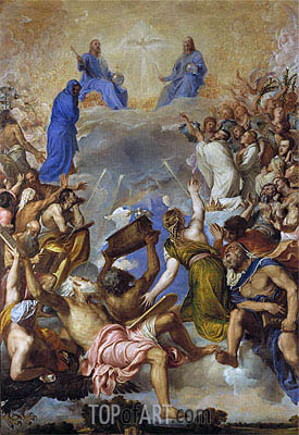 Glory, c.1551/54 | Titian | Painting Reproduction