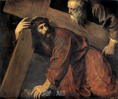 Christ and the Cyrenian, 1565 | Titian | Painting Reproduction