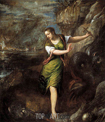 Saint Margaret, c.1556 | Titian | Painting Reproduction