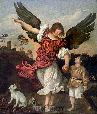 Raphael and Tobias, c.1507/08 | Titian | Painting Reproduction