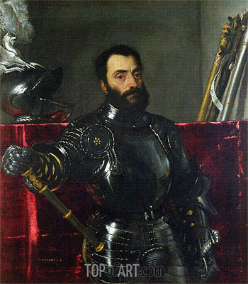 Portrait of Francesco Maria Della Rovere, Duke of Urbino,  | Titian | Painting Reproduction