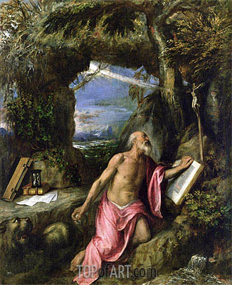 St. Jerome,  | Titian | Painting Reproduction