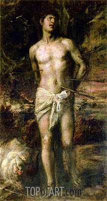 Saint Sebastian, c.1570 | Titian | Painting Reproduction