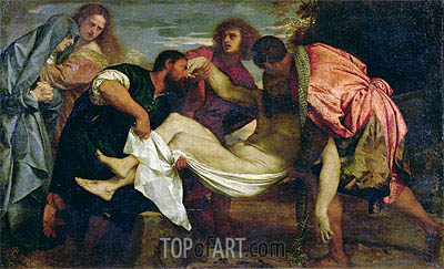 The Entombment of Christ, c.1520 | Titian| Painting Reproduction