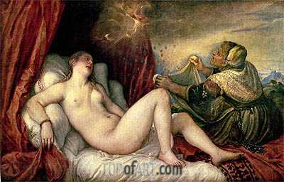 Danae, c.1554 | Titian | Painting Reproduction