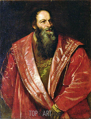 Portrait of Pietro Aretino (The Aretin) , 1545 | Titian | Painting Reproduction