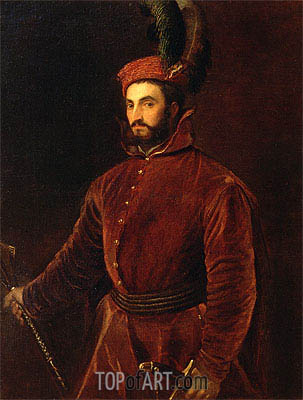 Portrait of Ippolito de' Medici, 1533 | Titian| Painting Reproduction
