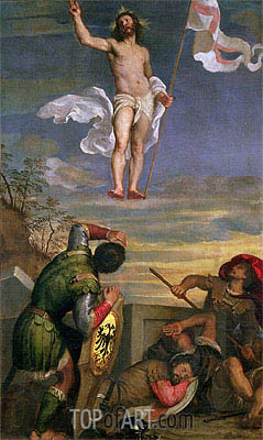 The Resurrection of Christ, undated | Titian | Painting Reproduction