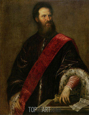 Portrait of Francesco Savorgnan della Torre, a Member of the Maggior Consiglio, c.1560 | Titian | Painting Reproduction