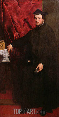 Portrait of Cristoforo Madruzzo, Cardinal and Bishop of Trent, 1552 | Titian | Painting Reproduction