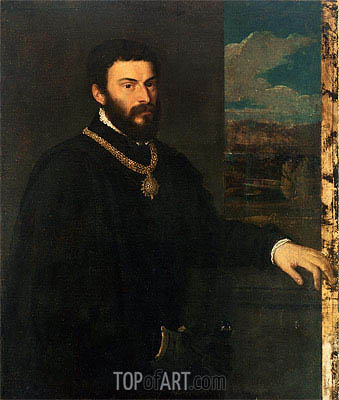 Portrait of Count Antonio Porcia, c.1535/40 | Titian | Painting Reproduction
