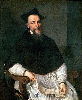 Portrait of Bishop Ludovico Beccadelli, 1552 | Titian | Painting Reproduction