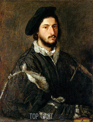 Portrait of Vincenzo Mosti, c.1520/25 | Titian| Painting Reproduction