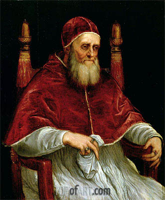 Pope Julius II, after a painting by Raphael,  | Titian | Gemälde Reproduktion