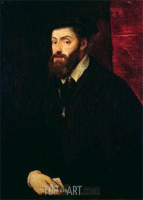 Portrait of Carlos V, c.1549 | Titian | Painting Reproduction