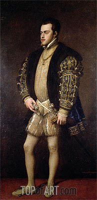 Portrait of Philip II of Spain,  | Titian | Painting Reproduction