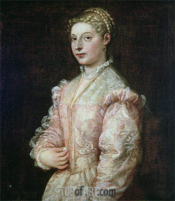 Portrait of Lavinia Vecellio,  | Titian | Painting Reproduction