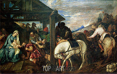 The Adoration of the Magi, c.1561 | Titian | Painting Reproduction