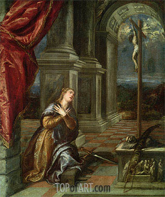 St. Catherine of Alexandria at Prayer, c.1567 | Titian| Painting Reproduction