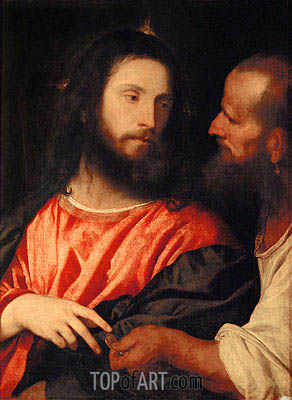 Tribute Money, c.1516 | Titian | Painting Reproduction