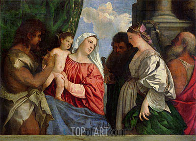 Virgin and Child with Four Saints, c.1516 | Titian | Painting Reproduction